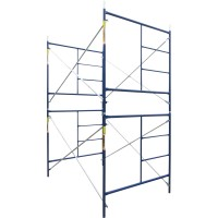 Metaltech Saferstack 5ft. x 7ft. x 10ft. Rolling Scaffold Tower Kit — Model# M-MRT5710
