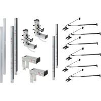 Qual-Craft Aluminum Pump Jack Scaffolding System Starter Kit — 36Ft., Model# 3016