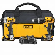 DeWalt DCK285C2 20V MAX Li-Ion Compact Hammerdrill & Impact Combo Kit (1.5 Ah)