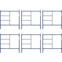 Metaltech Saferstack 5ft. x 5ft. Mason Frame — 6-Pack, Model# M-MF6060APSK6
