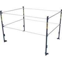 Metaltech 5ft.W x 7ft.D Scaffold Guardrail System — Model# M-MG507K