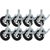 Metaltech Heavy-Duty 8in. Scaffold Caster with Foot Brake — 8-Pk., Model# M-MBC8K8