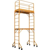 Metaltech Multipurpose 18ft. Maxi Square Triple Baker-Style Scaffold Tower Package — 733-Lb. Capacity, Model# I-T3CISC