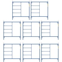 Metaltech Saferstack 5ft. x 5ft. Mason Frame Kit — 8-Pack, Model# M-MF6060PSK8