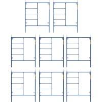Metaltech Saferstack 6.4ft. x 5ft. Mason Frame Kit — 8-Pack, Model# M-MF7660PSK8