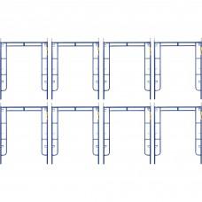 Metaltech Saferstack 6ft. x 5ft. Arch Frame — 8-Pack, Model# M-MA7660PSK8