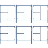 Metaltech Saferstack 6ft. x 5ft. Mason Frame Kit — 6-Pack, Model# M-MF7260PSK6