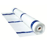 Metaltech Weather Protection Tarp for Scaffold — White/Blue, 13ft. x 100ft. Roll, Model# M-MTE13100